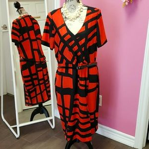 Planet ❤🖤 Red/Black Dress with Belt  Size 14